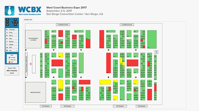 booth selection interactive floor map features - Floor Map Design